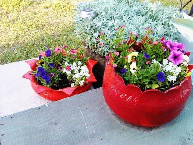 decoracao jardins pneus velhos 5
