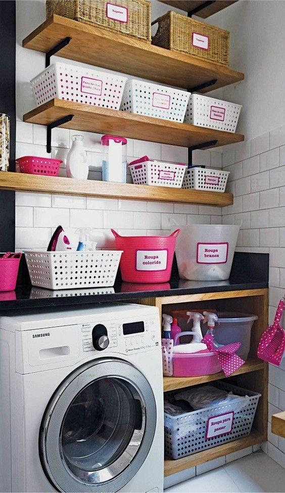 decoracao lavandaria cesto