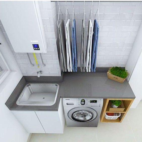 decoracao lavandaria pequenas simples