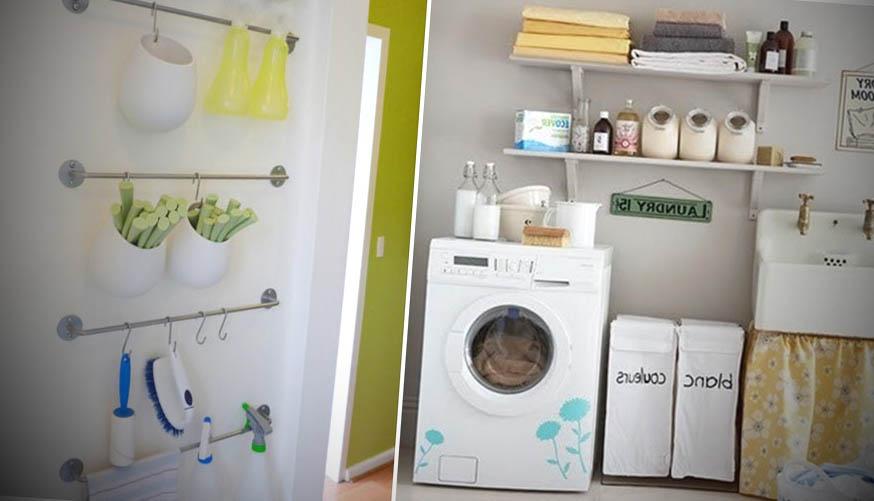 decoracao lavanderia pequena