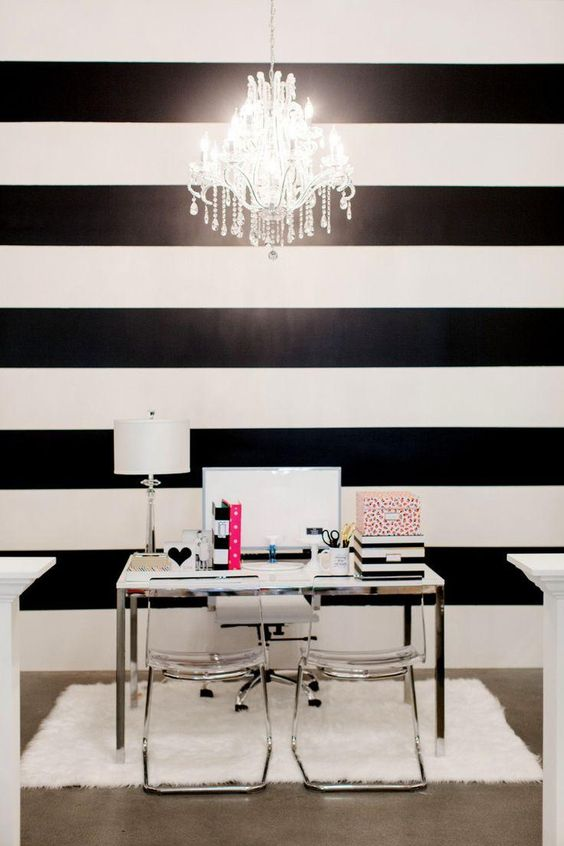 decoracao listras preto branco 10