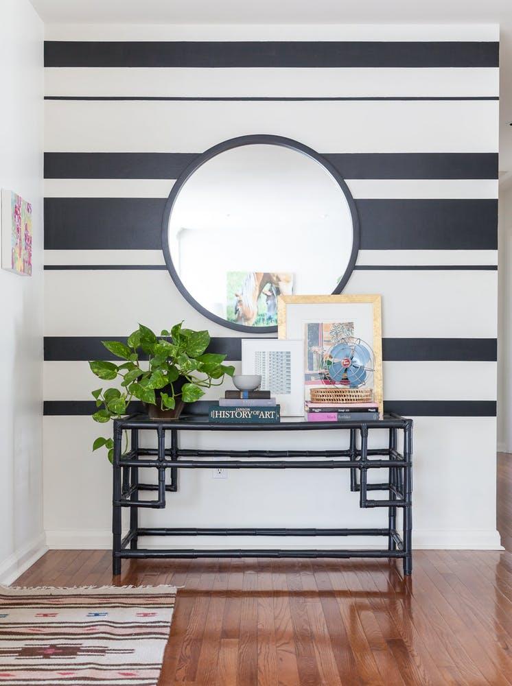 decoracao listras preto branco 2