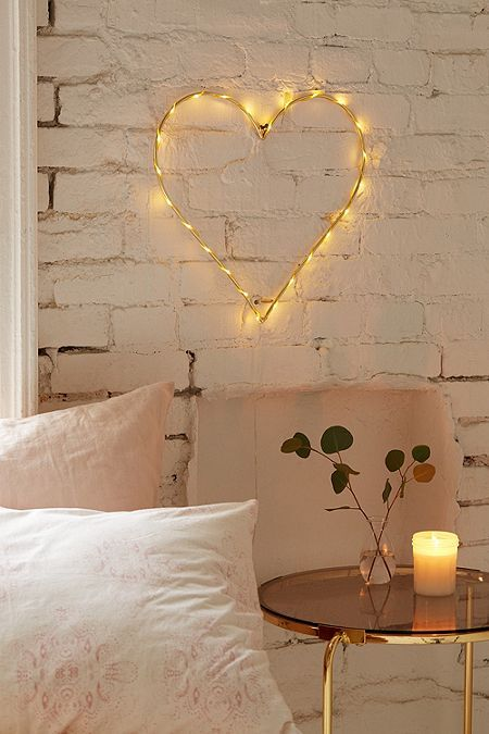 decoracao luzes led coracao