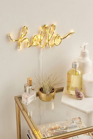 decoracao luzes led hello