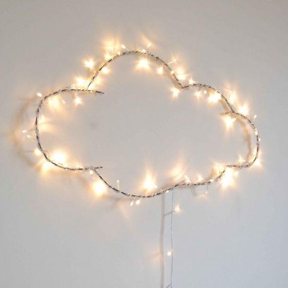 decoracao luzes led nuvem