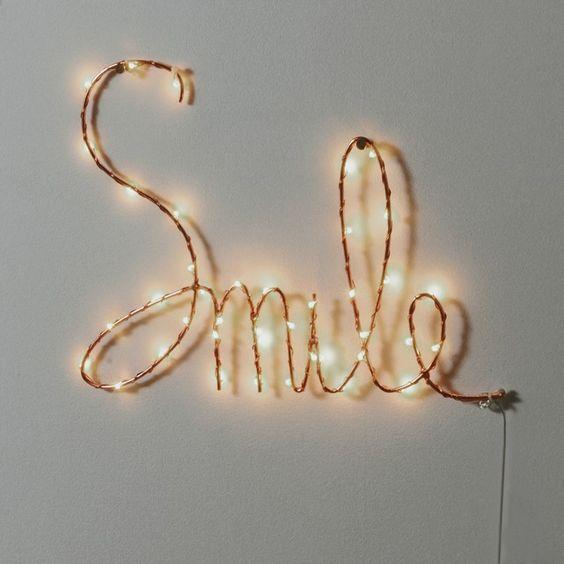 decoracao luzes led palavra