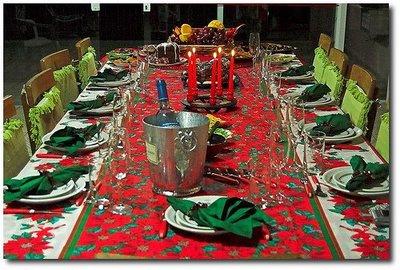 decoracao mesa de natal