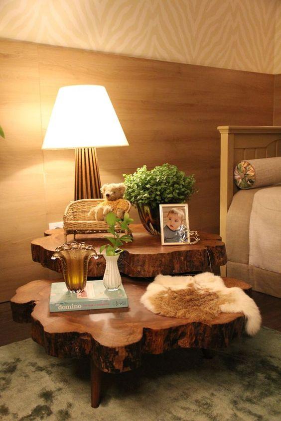 decoracao mesa madeira