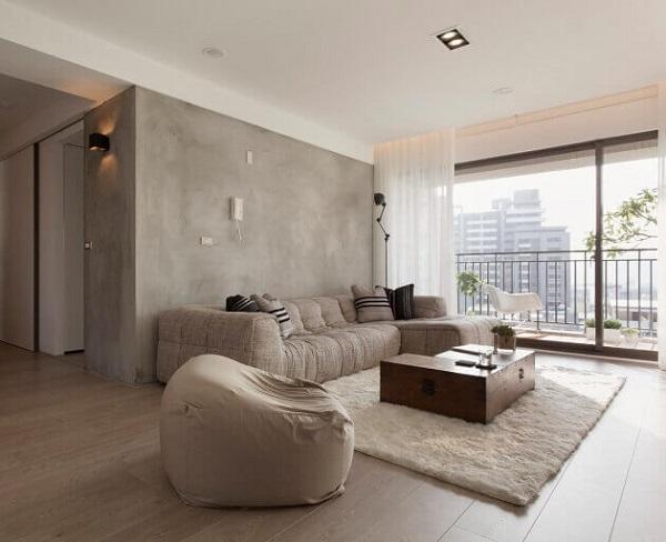 decoracao minimalista cimento