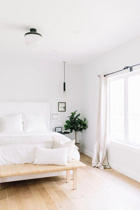 decoracao minimalista quarto casal
