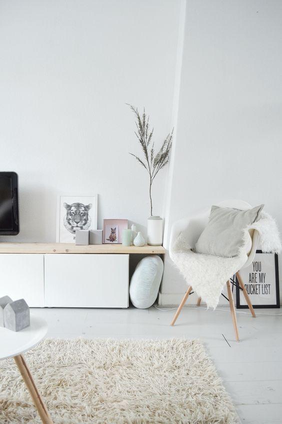 decoracao minimalista sala branco
