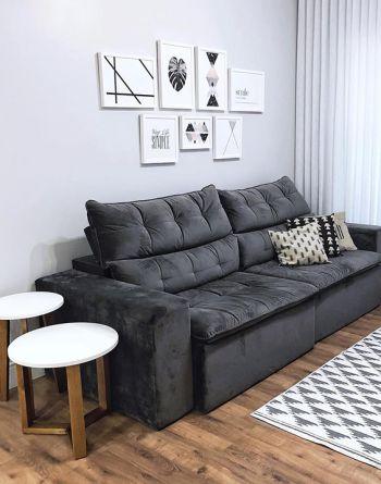decoracao minimalista sala sofa