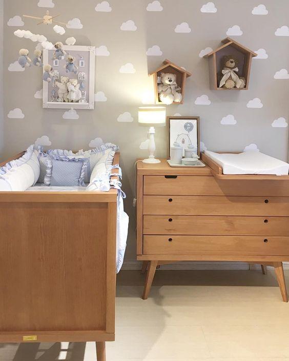 decoracao moveis madeira quarto bebe