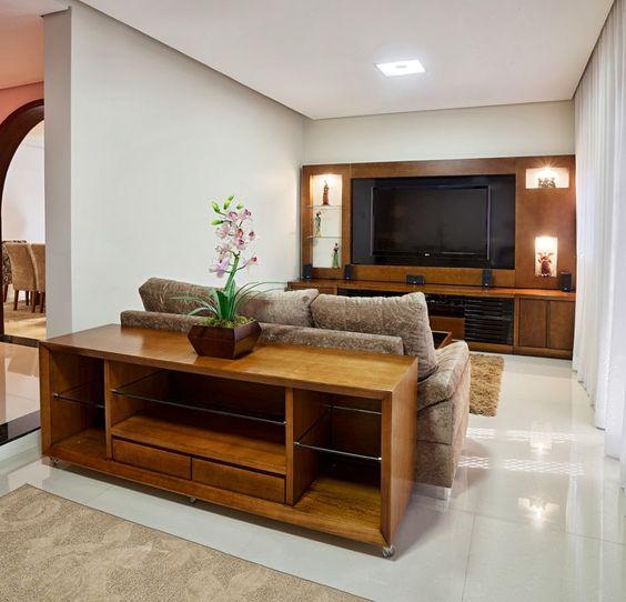 decoracao moveis madeira sala