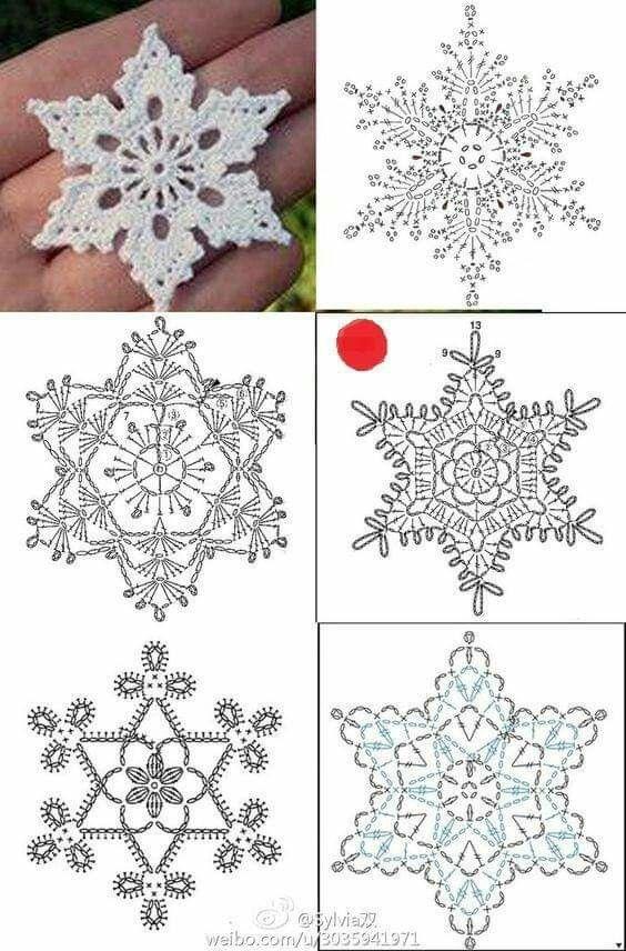 decoracao natal croche estrela