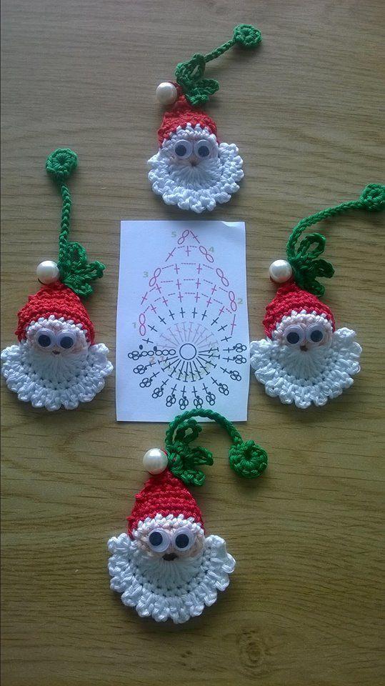 decoracao natal croche papai noel