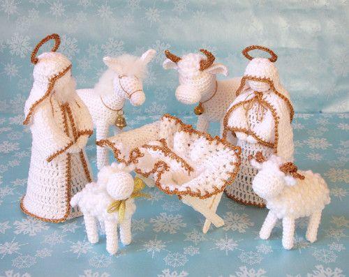 decoracao natal croche presepio