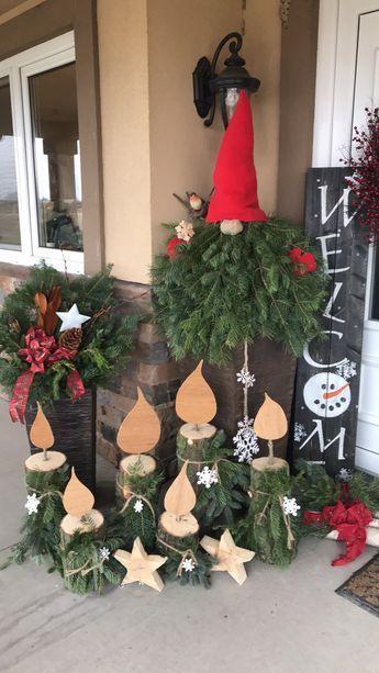 decoracao natal entrada