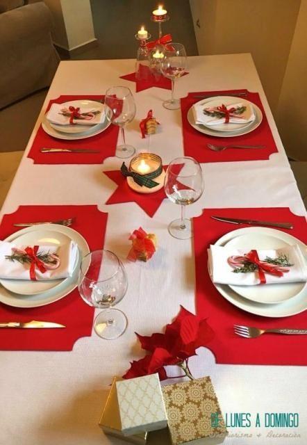 decoracao natal mesa minimalista