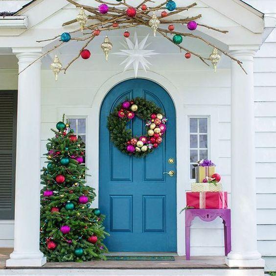 decoracao natal porta