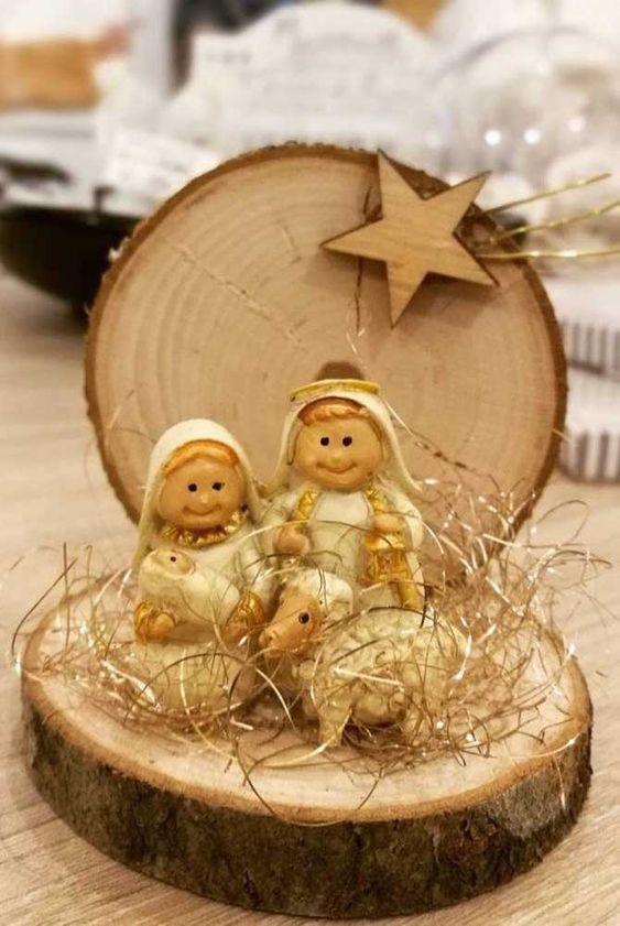decoracao natal presepio madeira