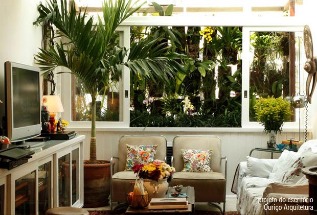 decoracao paisagismo jardim sala