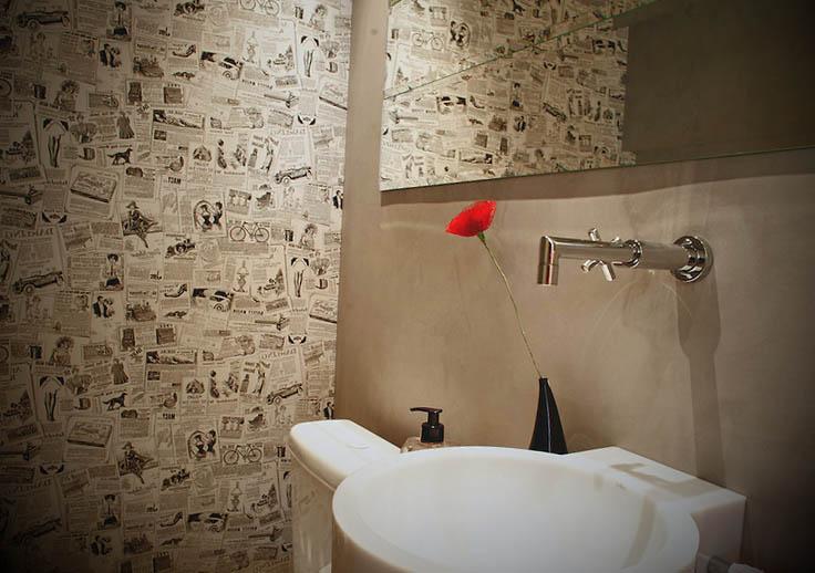 decoracao papel de parede em lavados
