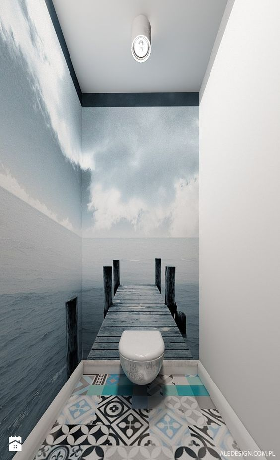 decoracao papel parede banheiro