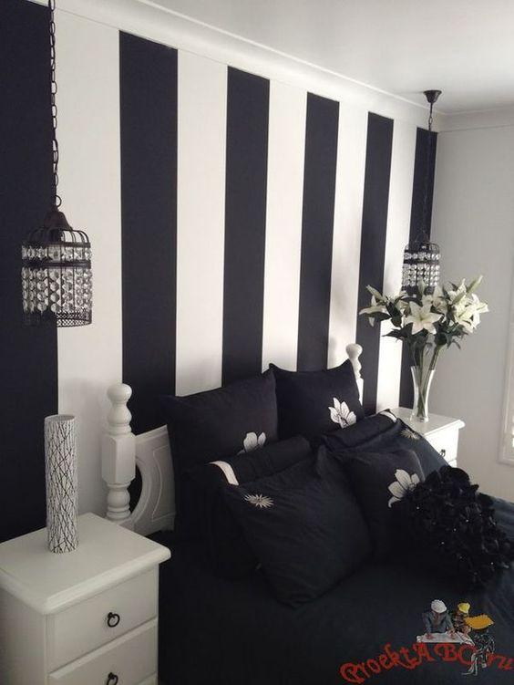 decoracao papel parede preto 3