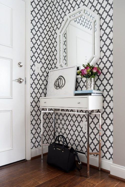 decoracao papel parede preto