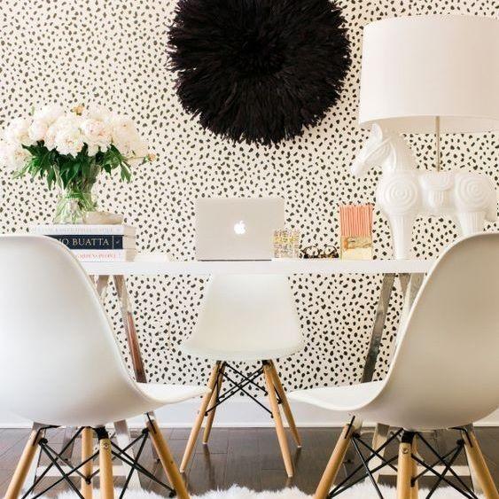decoracao papel parede sala