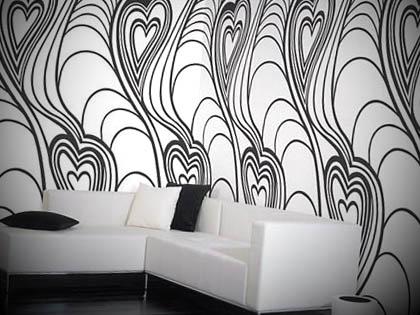 decoracao preto e branca