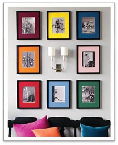 decoracao quadros coloridos