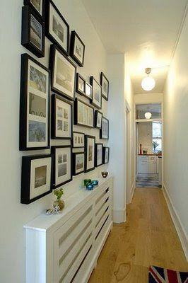 decoracao quadros corredor