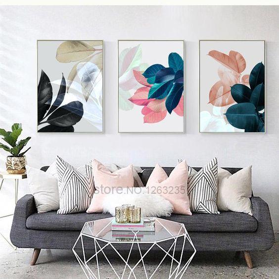 decoracao quadros flores
