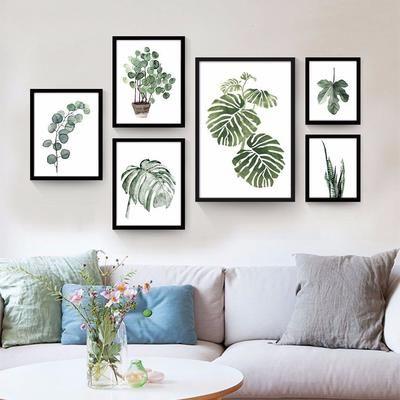 decoracao quadros folhas