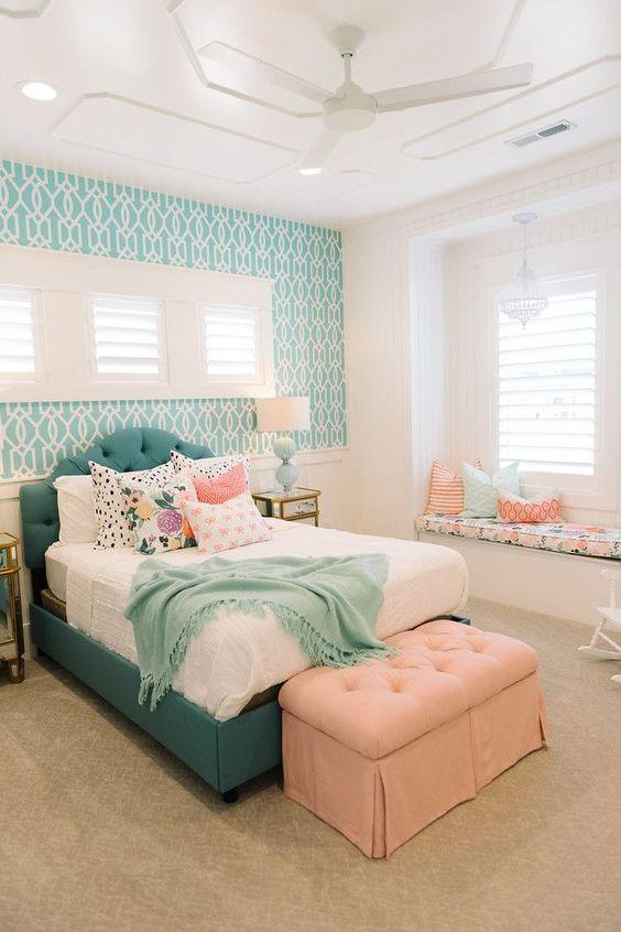 decoracao quarto adolescente azul