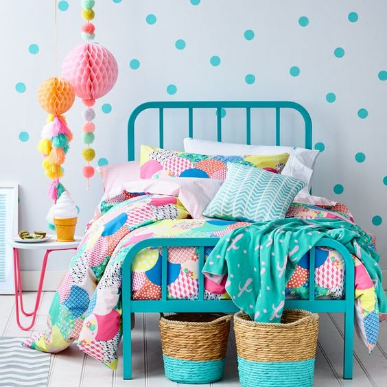 decoracao quarto adolescente colorido