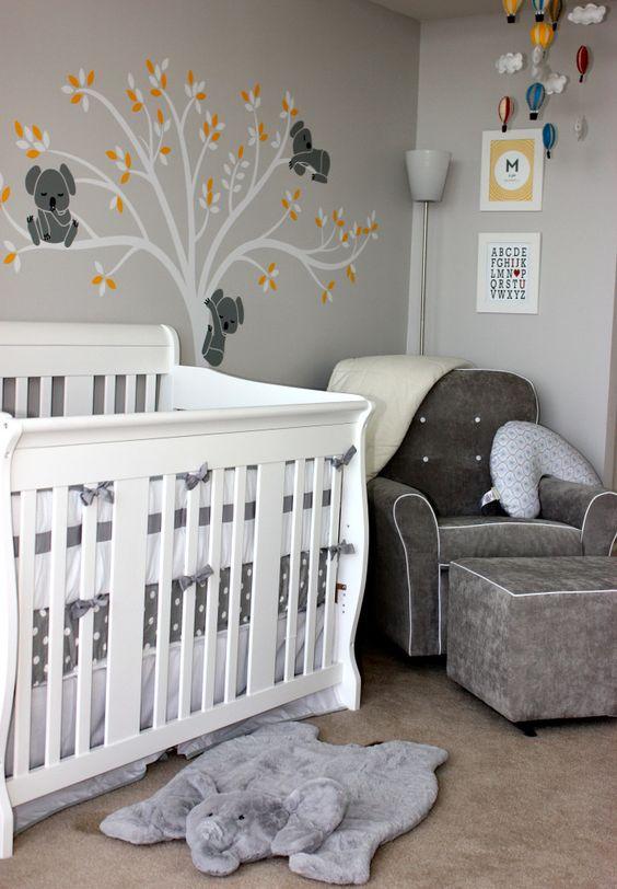 decoracao quarto bebe cinza