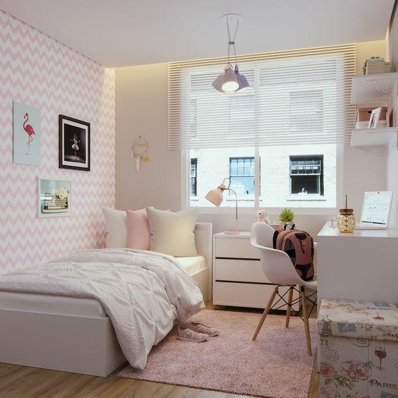 decoracao quarto com papel de parede 4