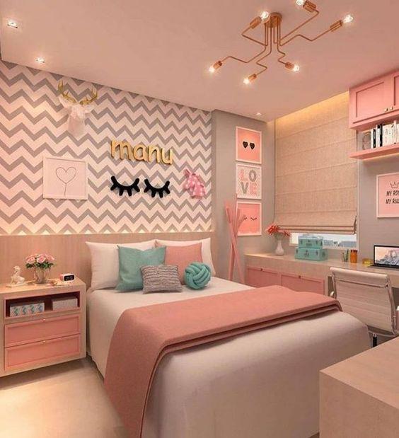 decoracao quarto com papel de parede 5