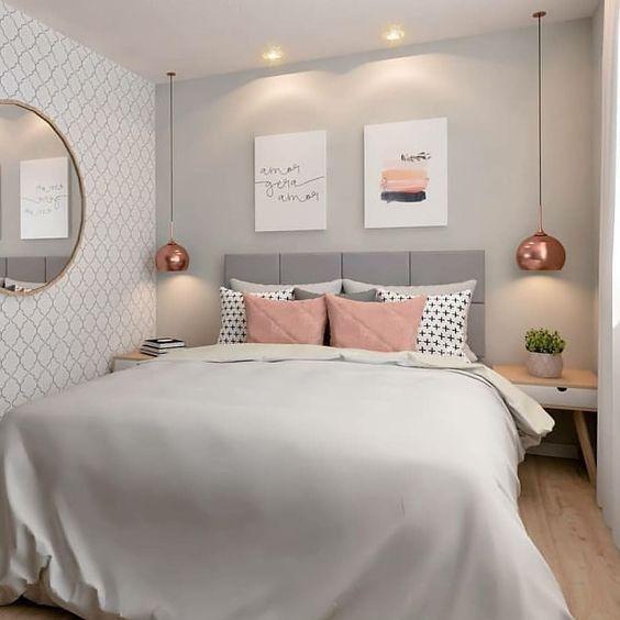 decoracao quarto com papel de parede