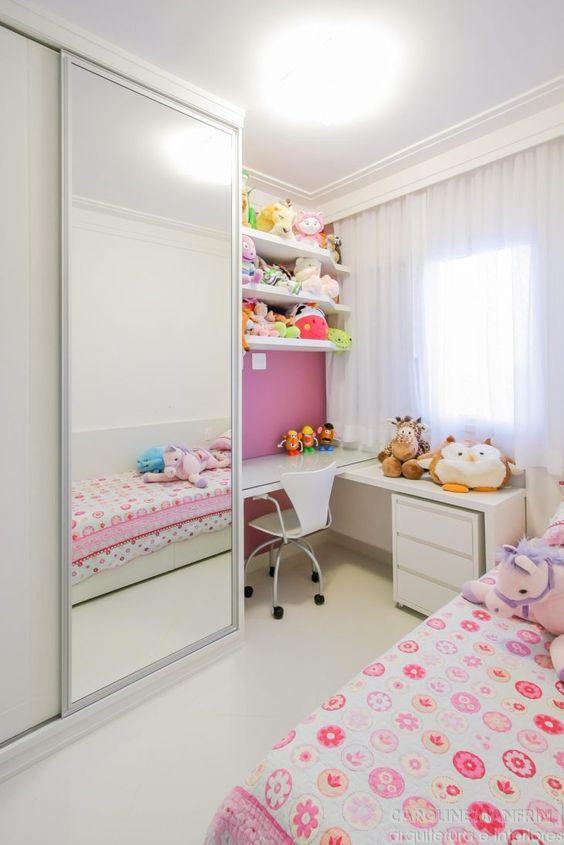 decoracao quarto infantil pequeno menina