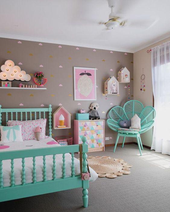 decoracao quarto infantil simples colorido