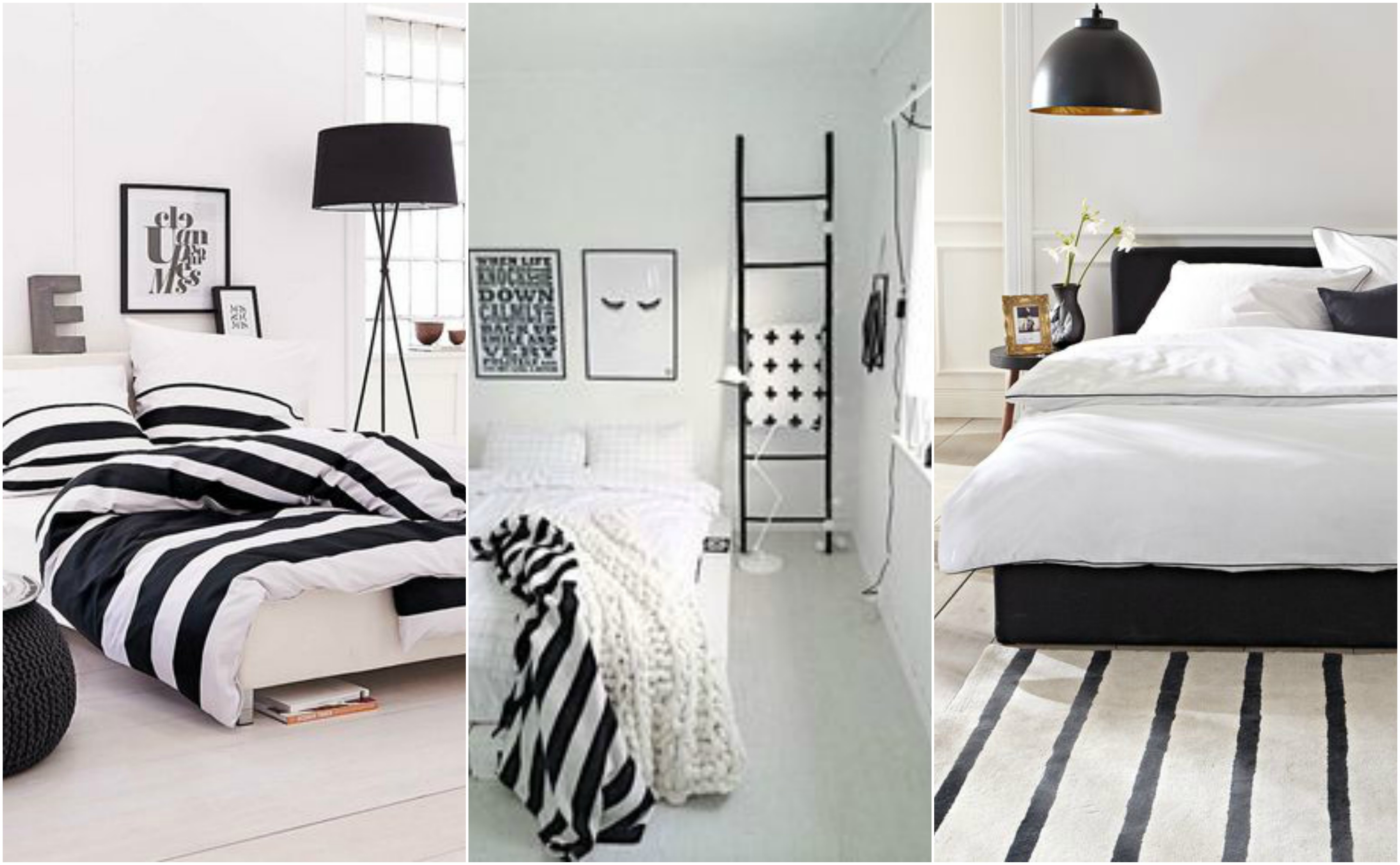decoracao quarto preto branco
