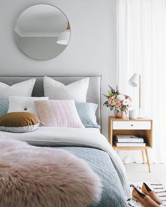 decoracao quarto romantico casal cinza