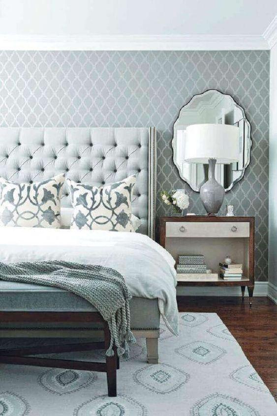 decoracao quarto romantico cinza simples