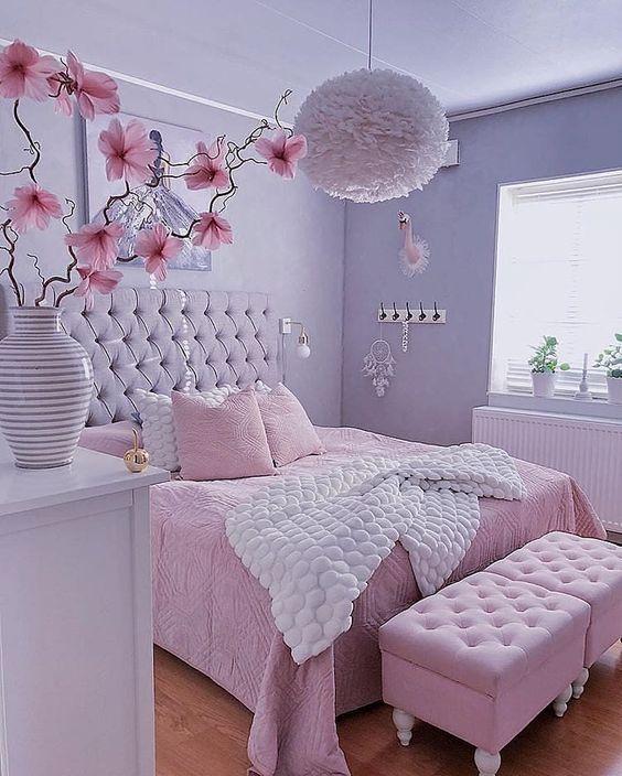 decoracao quarto romantico feminino