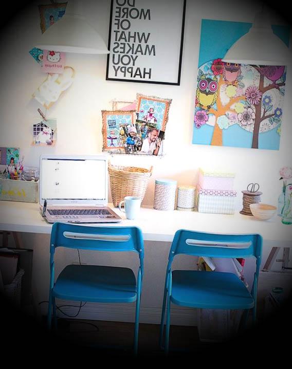 decoracao retro de escritorios ideias