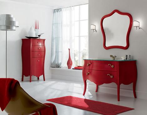 decoracao retro em vermelho
